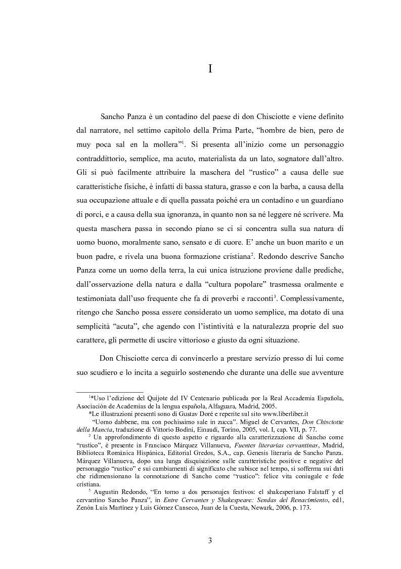 Anteprima della tesi: Sancho Panza, da scudiero fedele a governatore ''quasi'' ideale, Pagina 3