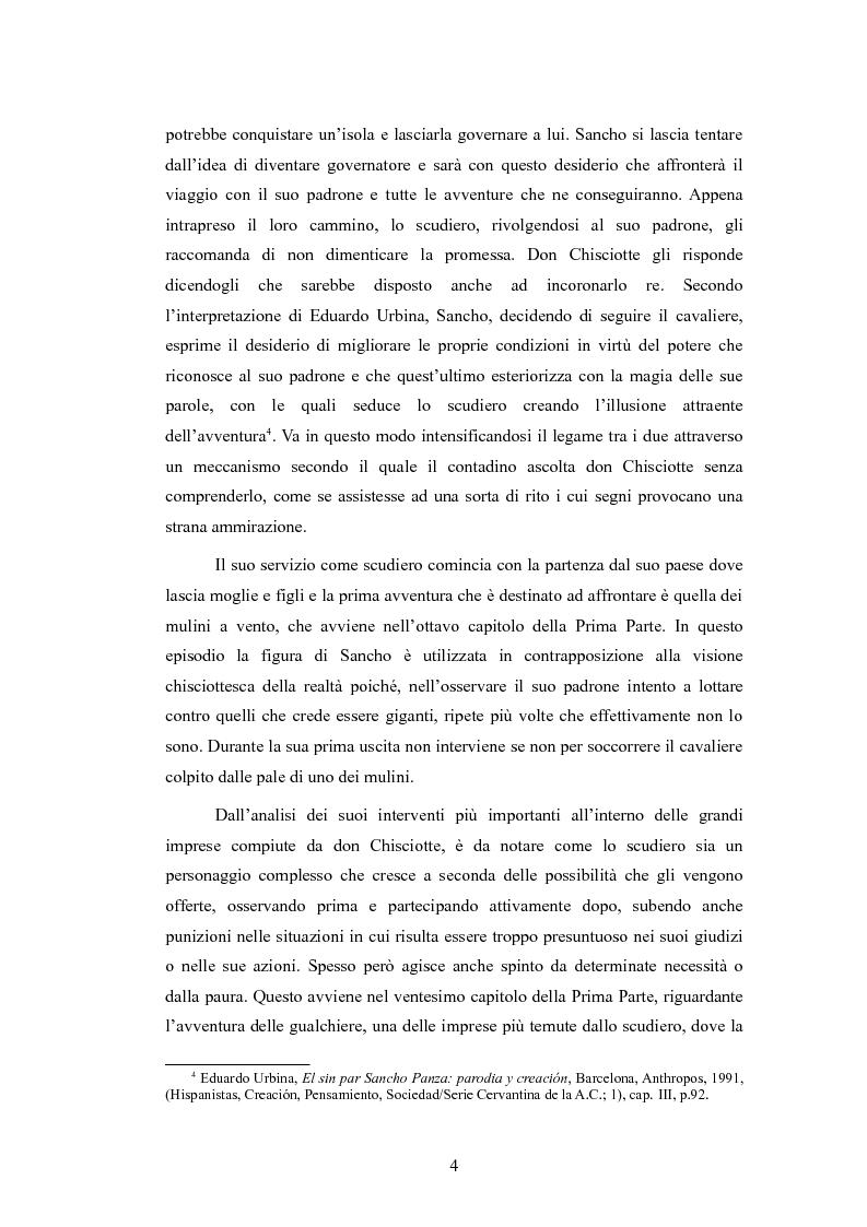 Anteprima della tesi: Sancho Panza, da scudiero fedele a governatore ''quasi'' ideale, Pagina 4
