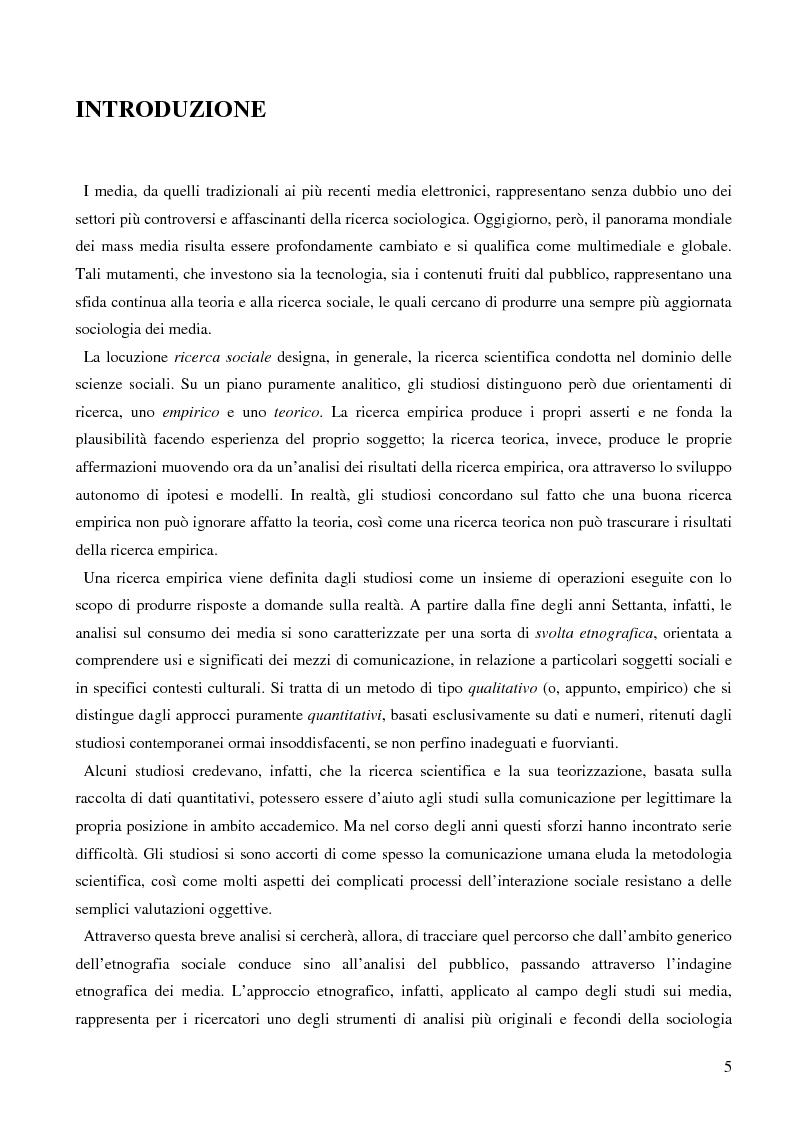 Anteprima della tesi: Dall'audience ai ''pubblici''. Note sull'etnografia dei media., Pagina 2