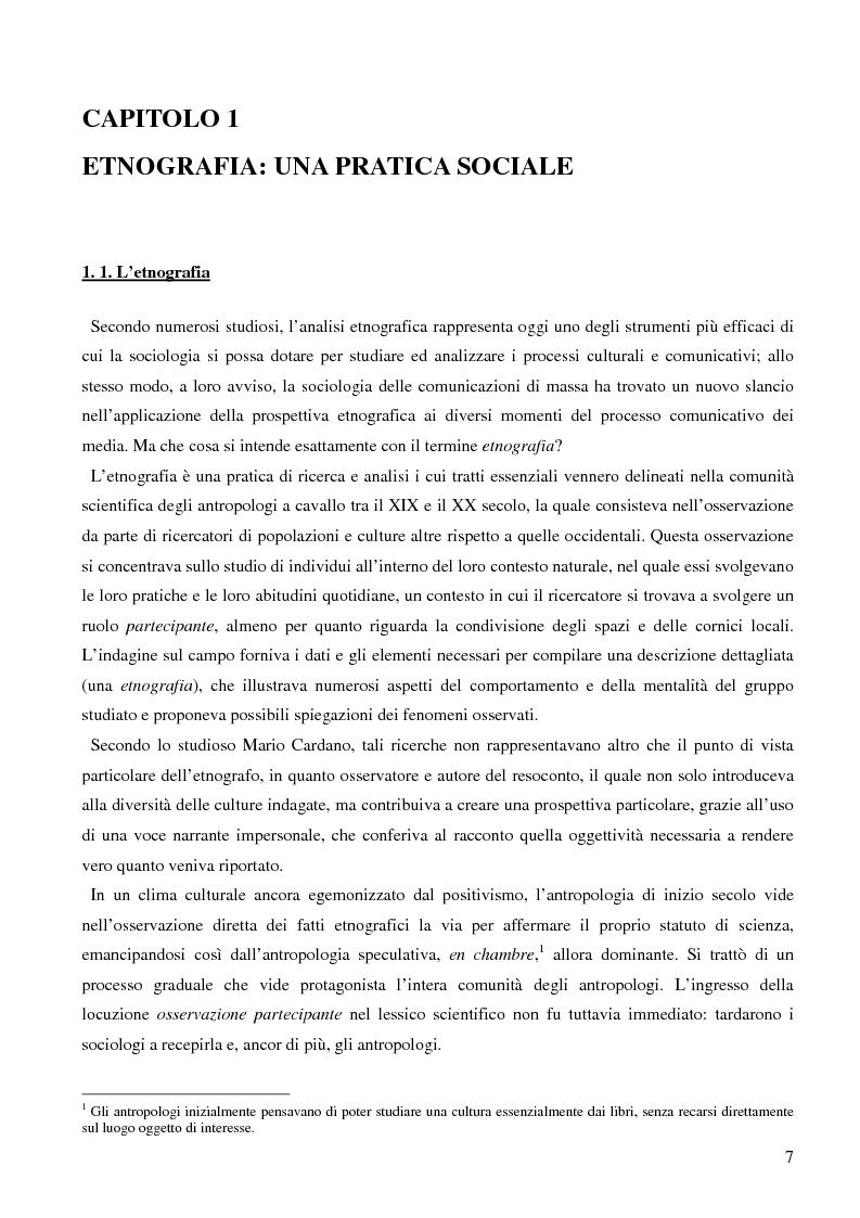 Anteprima della tesi: Dall'audience ai ''pubblici''. Note sull'etnografia dei media., Pagina 4