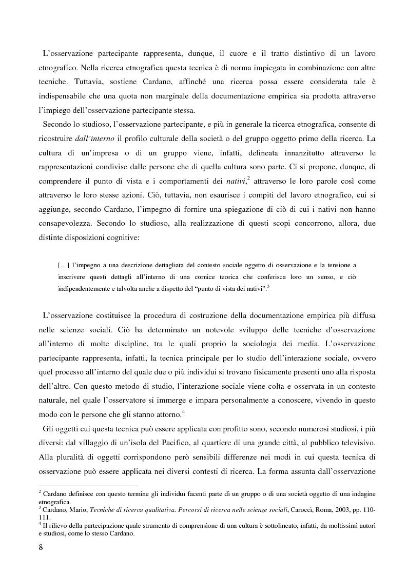 Anteprima della tesi: Dall'audience ai ''pubblici''. Note sull'etnografia dei media., Pagina 5