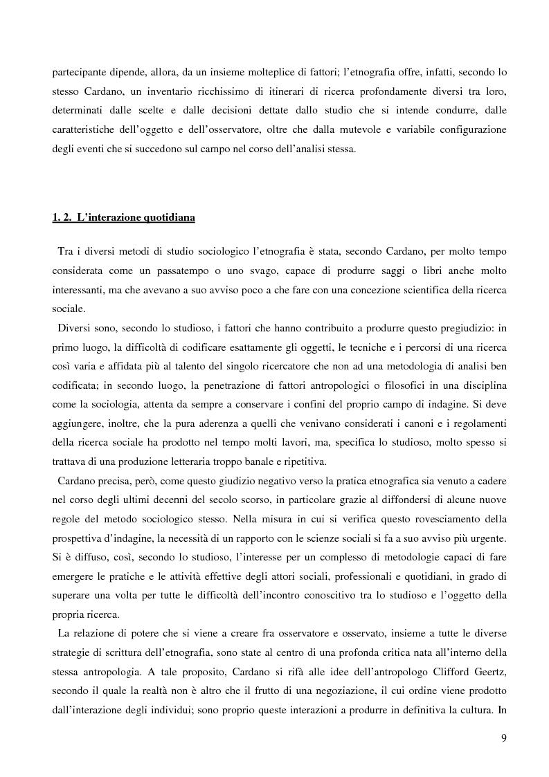 Anteprima della tesi: Dall'audience ai ''pubblici''. Note sull'etnografia dei media., Pagina 6
