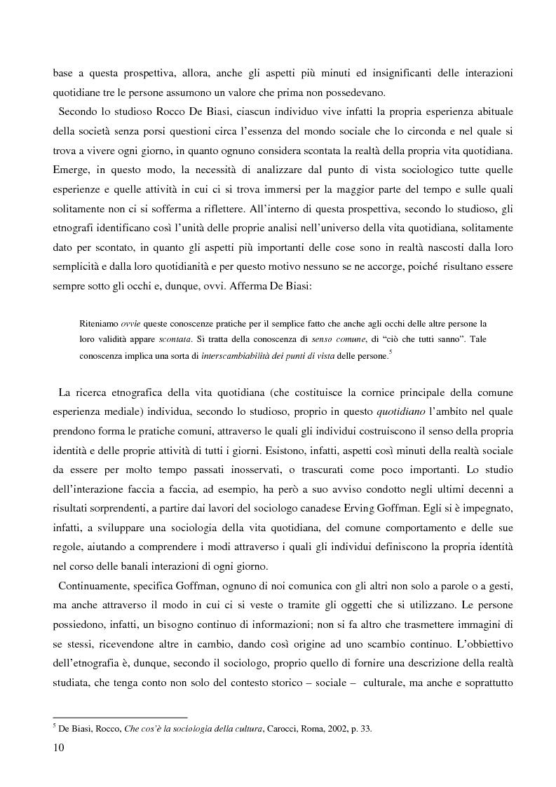 Anteprima della tesi: Dall'audience ai ''pubblici''. Note sull'etnografia dei media., Pagina 7