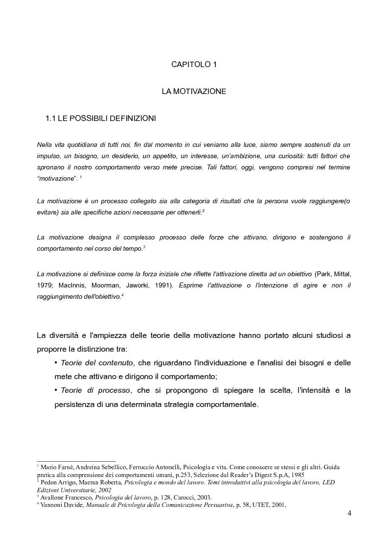 Anteprima della tesi: La motivazione nella scelta del tirocinio professionalizzante, Pagina 2