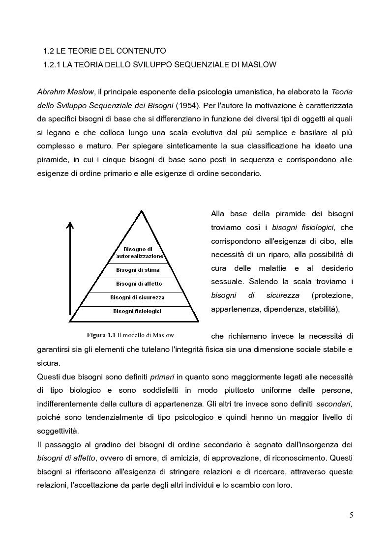 Anteprima della tesi: La motivazione nella scelta del tirocinio professionalizzante, Pagina 3