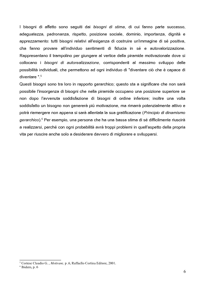 Anteprima della tesi: La motivazione nella scelta del tirocinio professionalizzante, Pagina 4