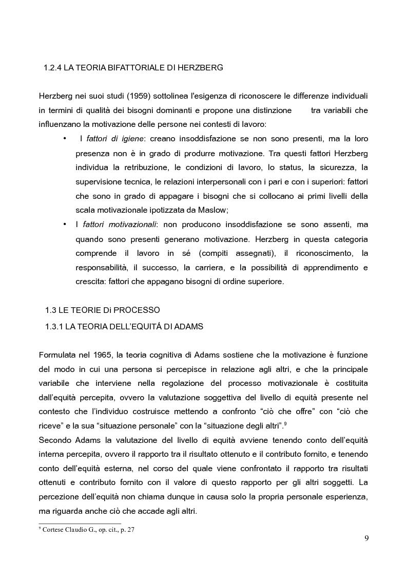 Anteprima della tesi: La motivazione nella scelta del tirocinio professionalizzante, Pagina 7