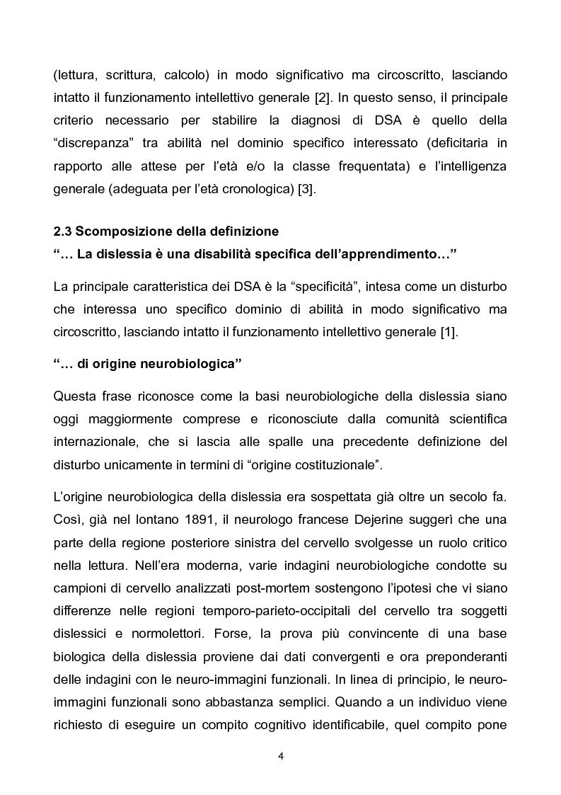 Anteprima della tesi: Prevalenza dei disturbi specifici dell'apprendimento nella popolazione scolastica di Ferrara e provincia. Problemi aperti e soluzioni a confronto., Pagina 4