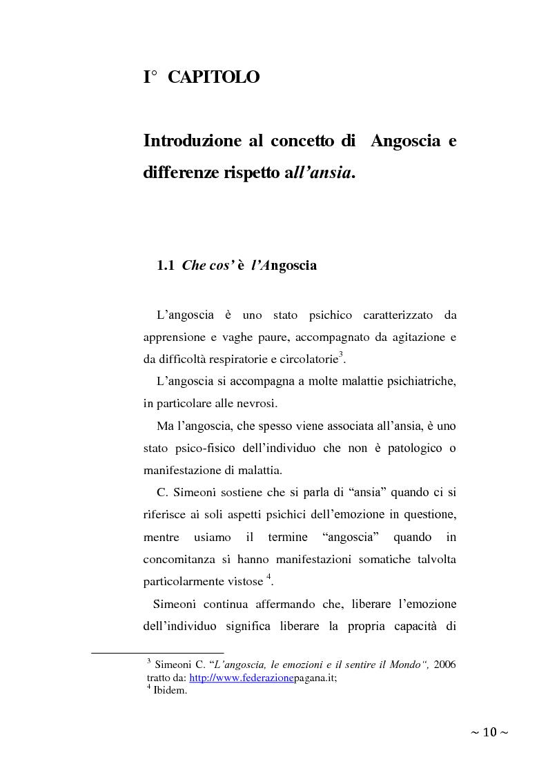 Anteprima della tesi: L'angoscia, un affetto che non mente, Pagina 1