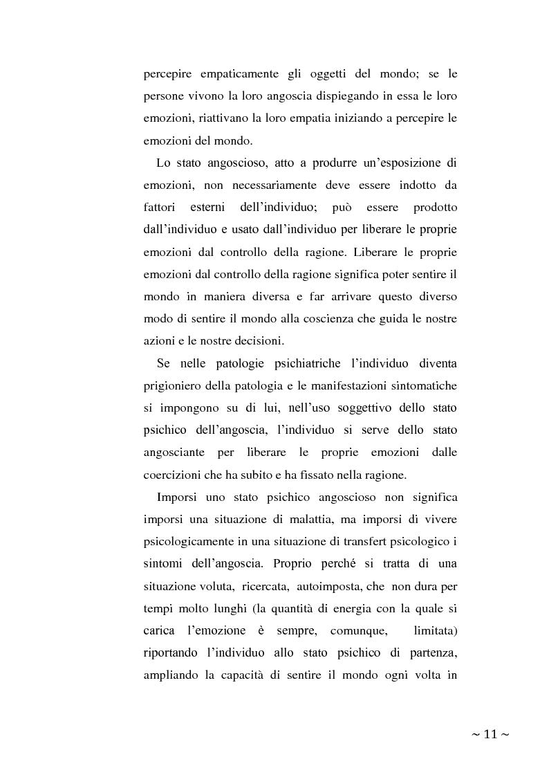 Anteprima della tesi: L'angoscia, un affetto che non mente, Pagina 2