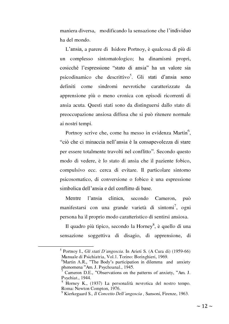 Anteprima della tesi: L'angoscia, un affetto che non mente, Pagina 3