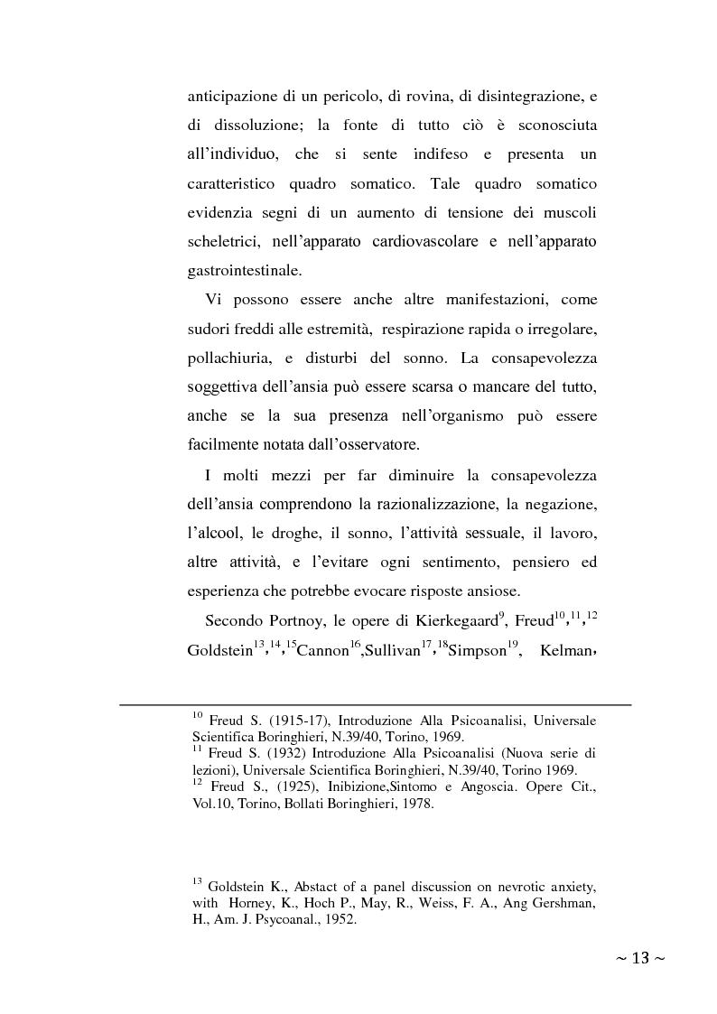 Anteprima della tesi: L'angoscia, un affetto che non mente, Pagina 4