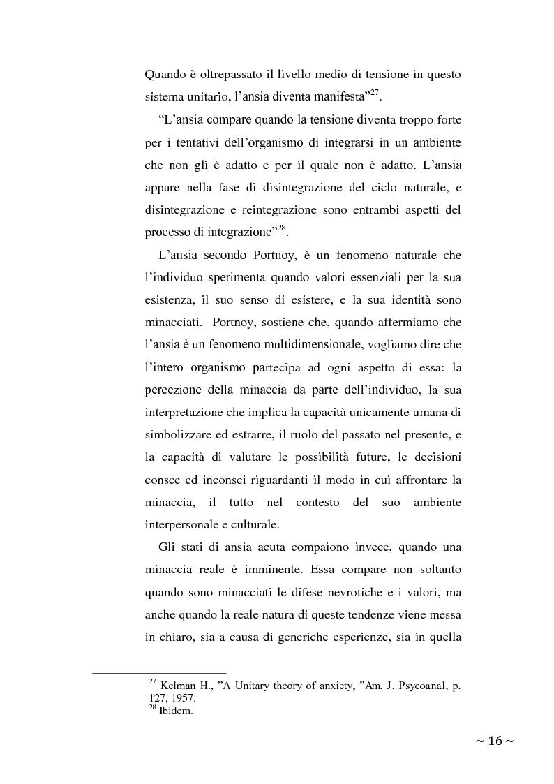 Anteprima della tesi: L'angoscia, un affetto che non mente, Pagina 7