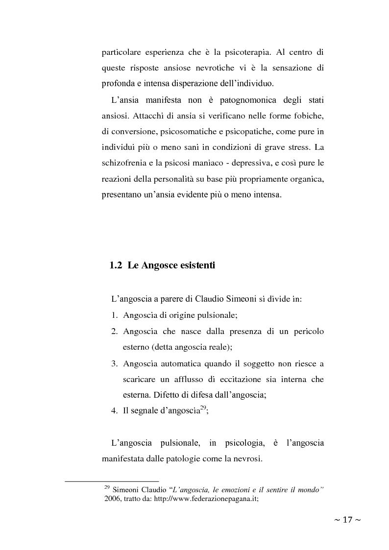 Anteprima della tesi: L'angoscia, un affetto che non mente, Pagina 8