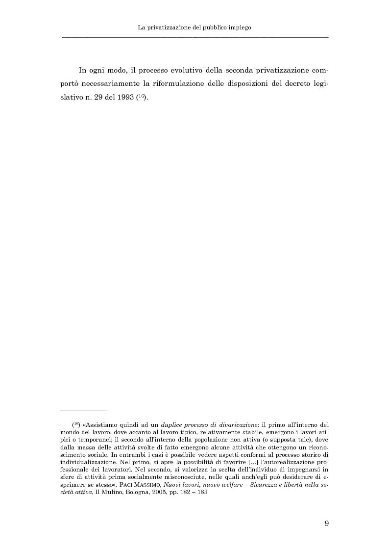 Anteprima della tesi: La subordinazione nel pubblico impiego, Pagina 14