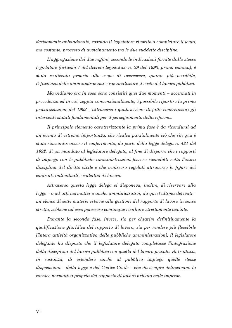 Anteprima della tesi: La subordinazione nel pubblico impiego, Pagina 2