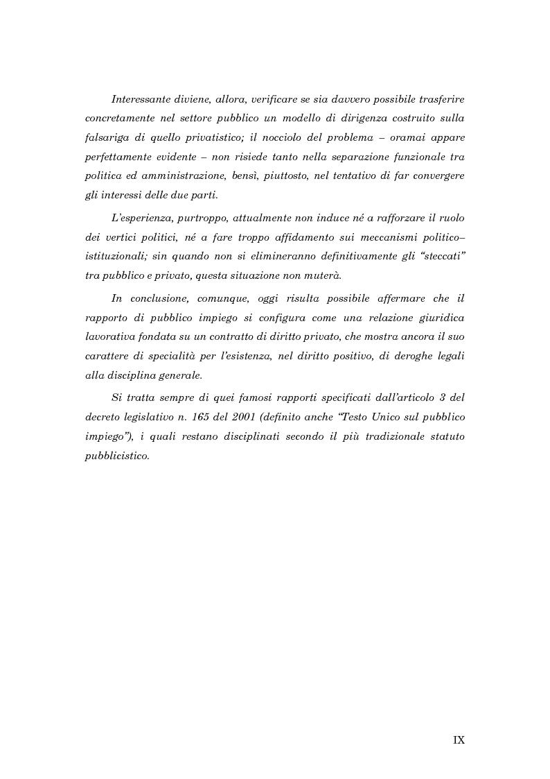 Anteprima della tesi: La subordinazione nel pubblico impiego, Pagina 5