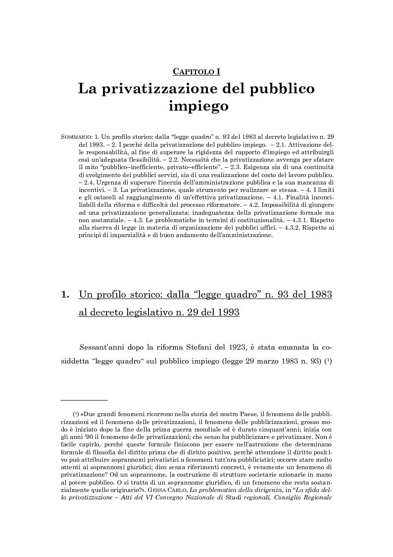 Anteprima della tesi: La subordinazione nel pubblico impiego, Pagina 6