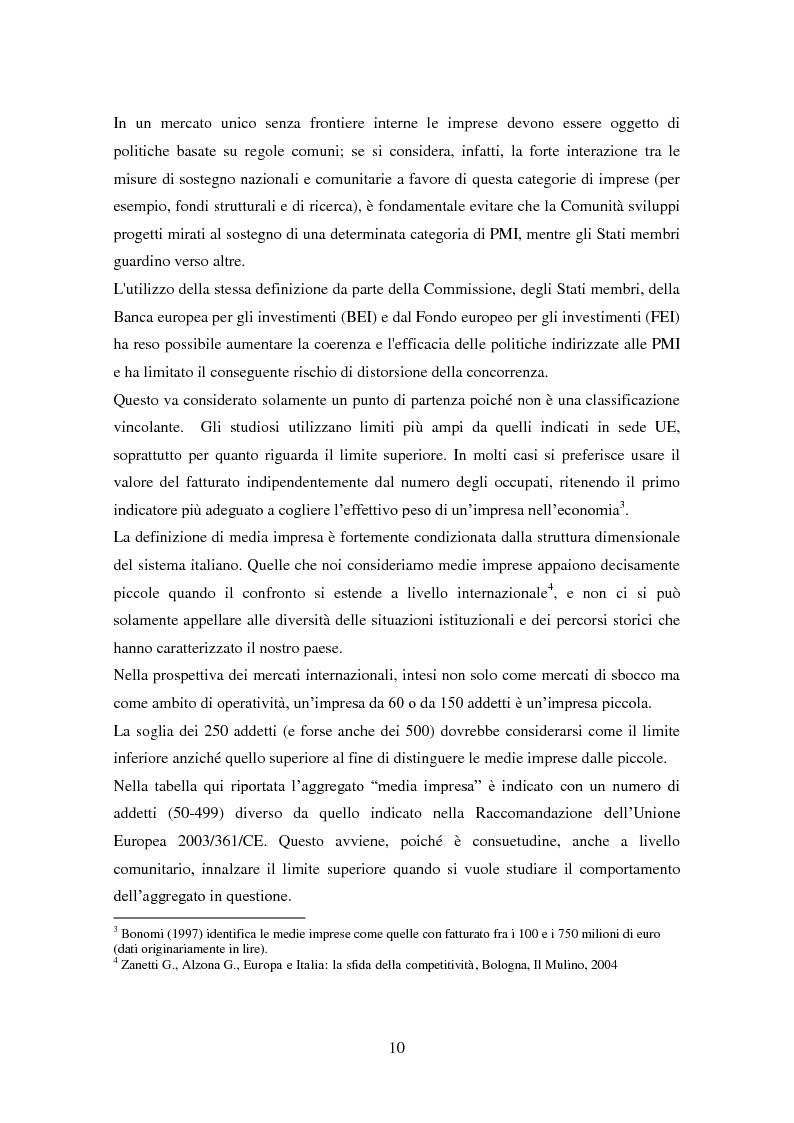 Anteprima della tesi: Le medie imprese commerciali, un'analisi di due macroaree: Nord Est e Sud Italia, Pagina 10