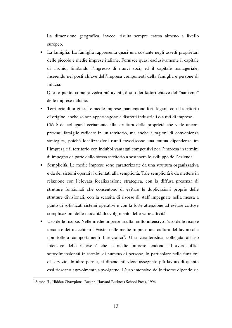 Anteprima della tesi: Le medie imprese commerciali, un'analisi di due macroaree: Nord Est e Sud Italia, Pagina 13
