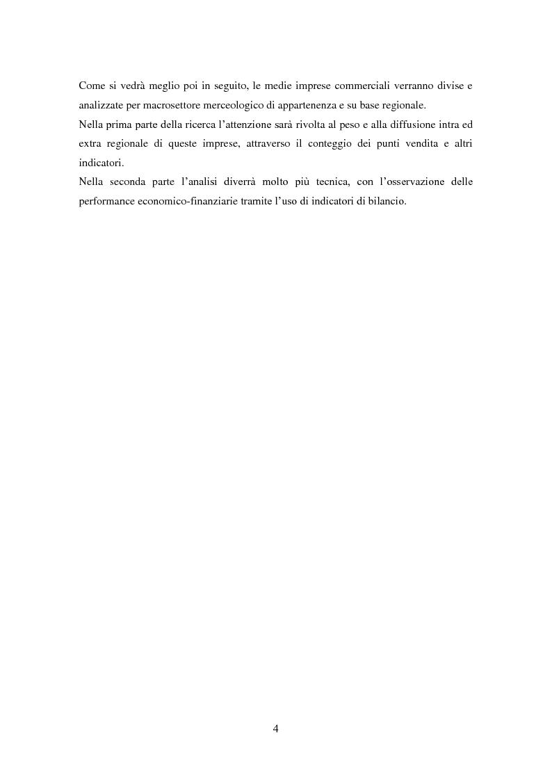 Anteprima della tesi: Le medie imprese commerciali, un'analisi di due macroaree: Nord Est e Sud Italia, Pagina 4