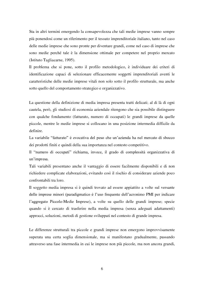 Anteprima della tesi: Le medie imprese commerciali, un'analisi di due macroaree: Nord Est e Sud Italia, Pagina 6
