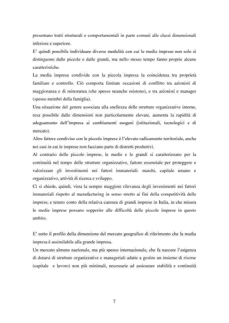 Anteprima della tesi: Le medie imprese commerciali, un'analisi di due macroaree: Nord Est e Sud Italia, Pagina 7