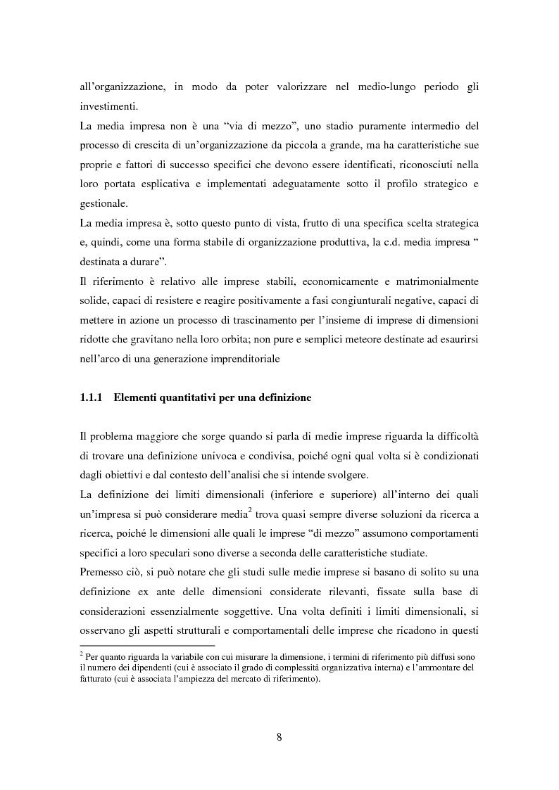 Anteprima della tesi: Le medie imprese commerciali, un'analisi di due macroaree: Nord Est e Sud Italia, Pagina 8