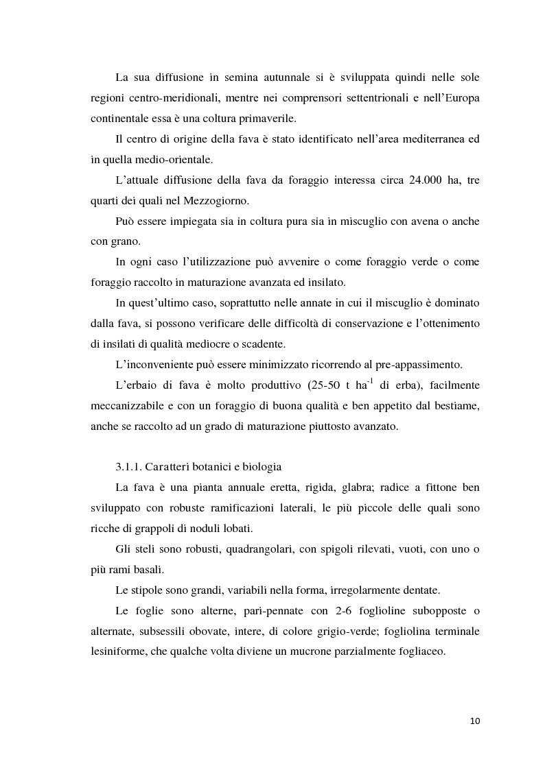 Anteprima della tesi: Quantificazione dell'azotofissazione in leguminose foraggere e stima della quota di azoto trasferito al cereale in successione, Pagina 10