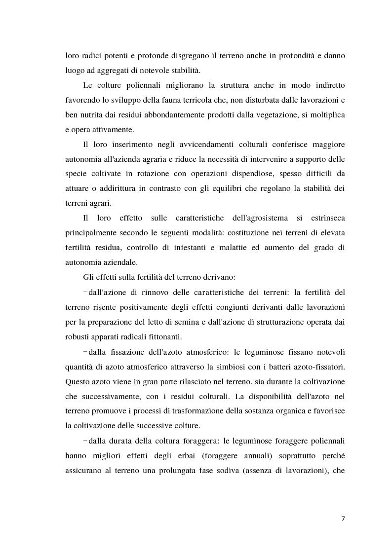 Anteprima della tesi: Quantificazione dell'azotofissazione in leguminose foraggere e stima della quota di azoto trasferito al cereale in successione, Pagina 7