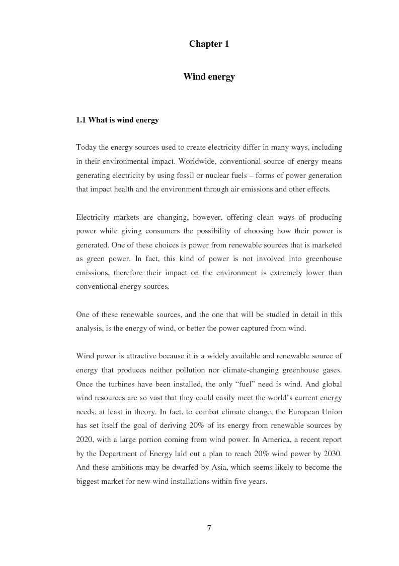 Anteprima della tesi: The Culture and Market on Wind Project Financing. The French Experience., Pagina 4