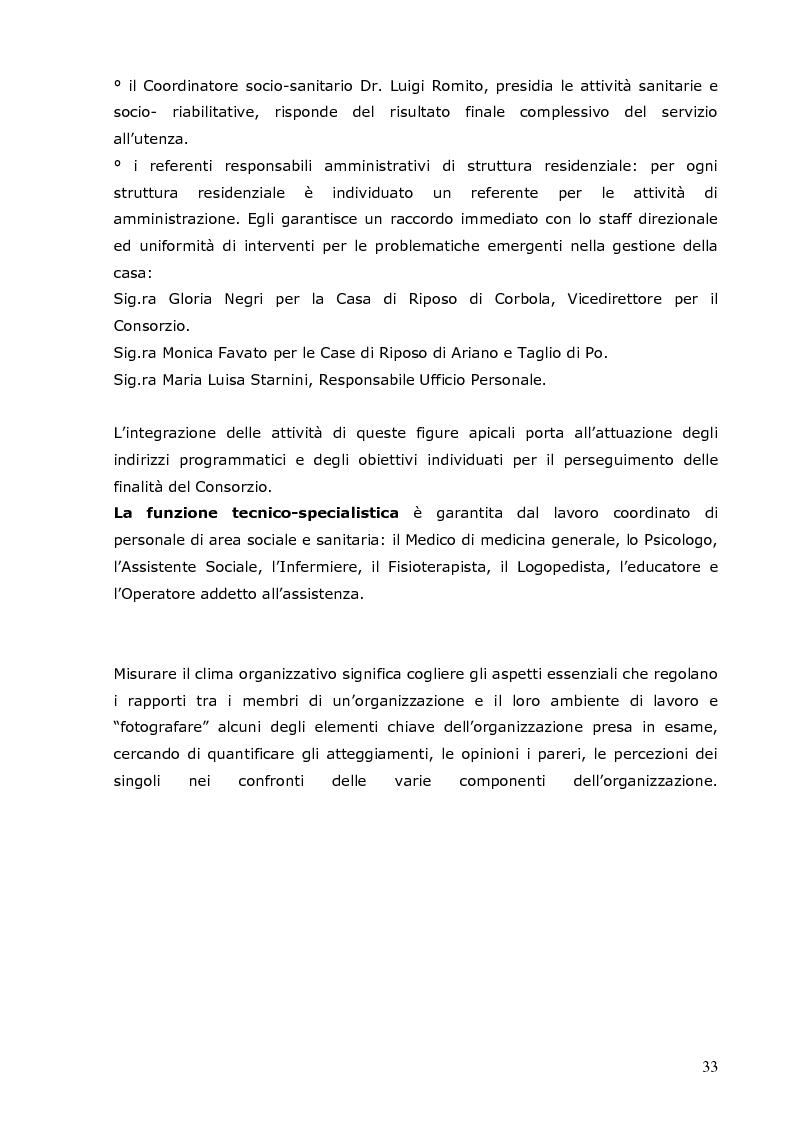 Anteprima della tesi: Analisi del clima organizzativo all'interno di una Residenza Sanitaria: il percepito degli operatori come base per lo sviluppo i progetti finalizzati al miglioramento della qualità percepita, Pagina 5