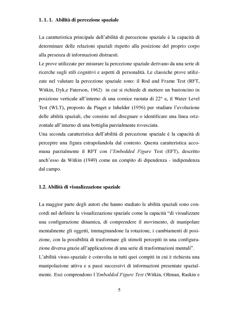Anteprima della tesi: Analisi delle differenze di genere nelle abilità spaziali , Pagina 2