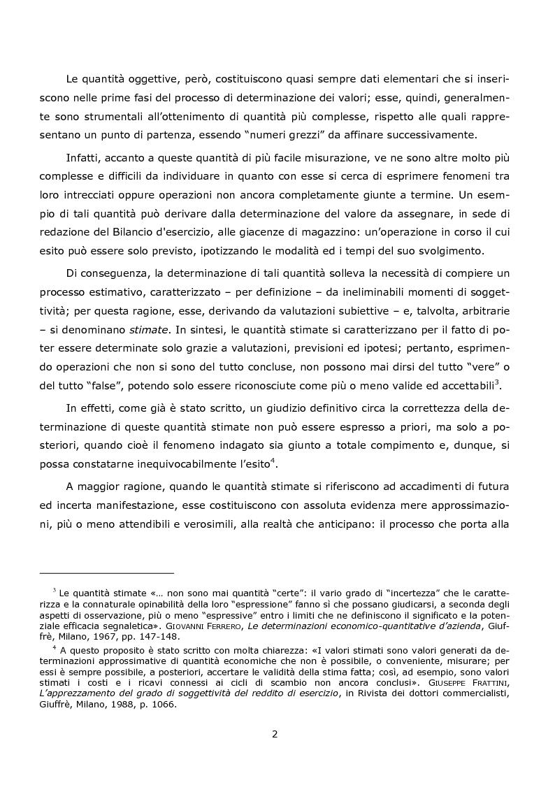 Anteprima della tesi: La duplice accezione di ''attendibilità'' del reddito d'esercizio, Pagina 2