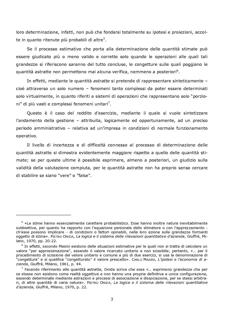 Anteprima della tesi: La duplice accezione di ''attendibilità'' del reddito d'esercizio, Pagina 3
