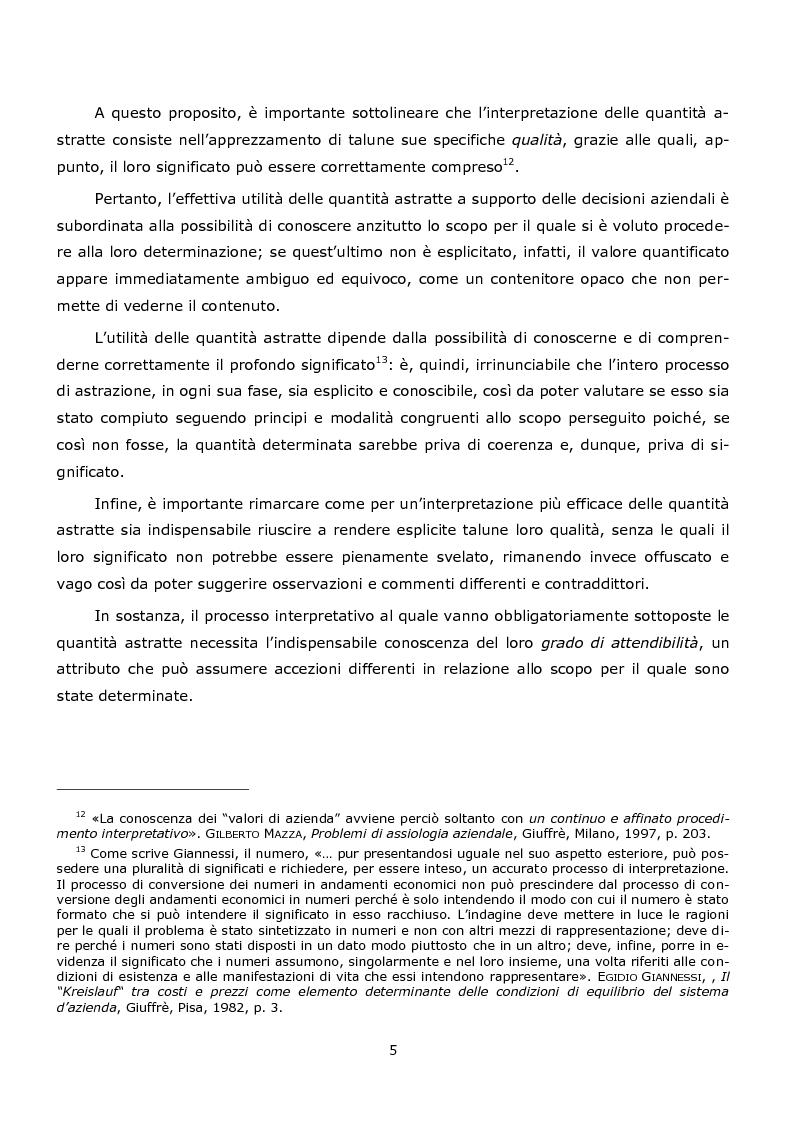 Anteprima della tesi: La duplice accezione di ''attendibilità'' del reddito d'esercizio, Pagina 5