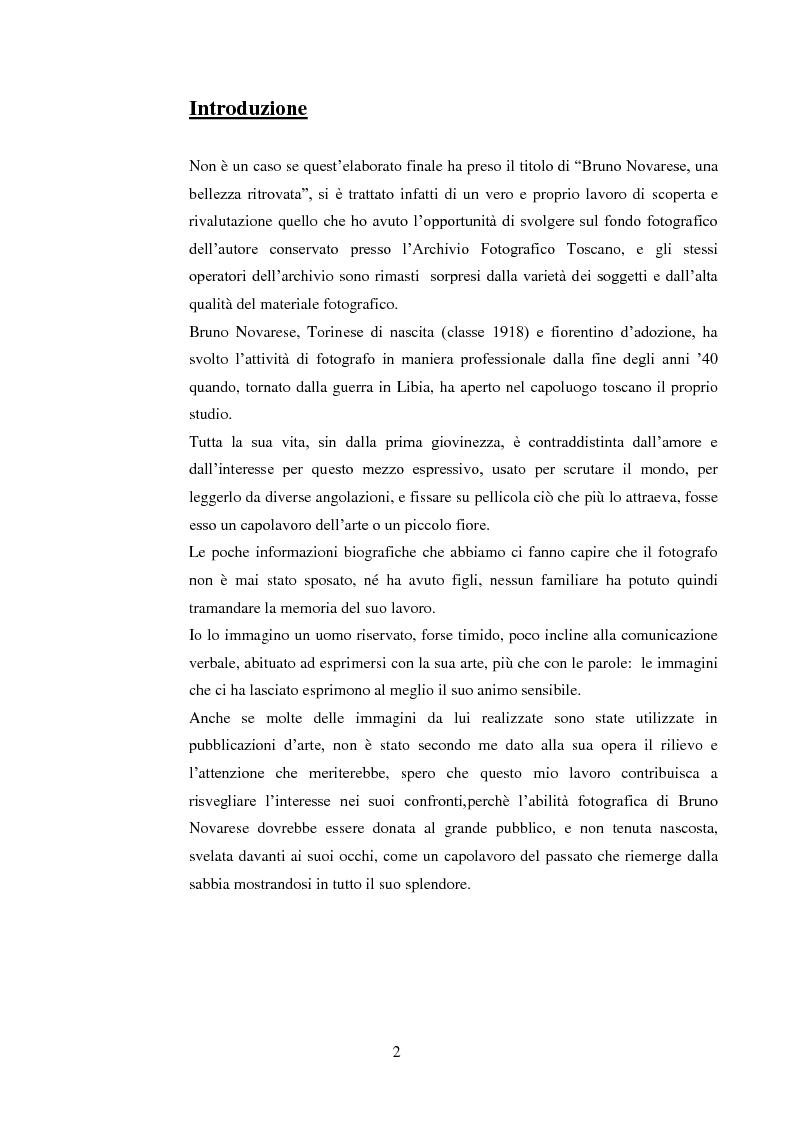 Anteprima della tesi: Bruno Novarese: una bellezza ritrovata, Pagina 1