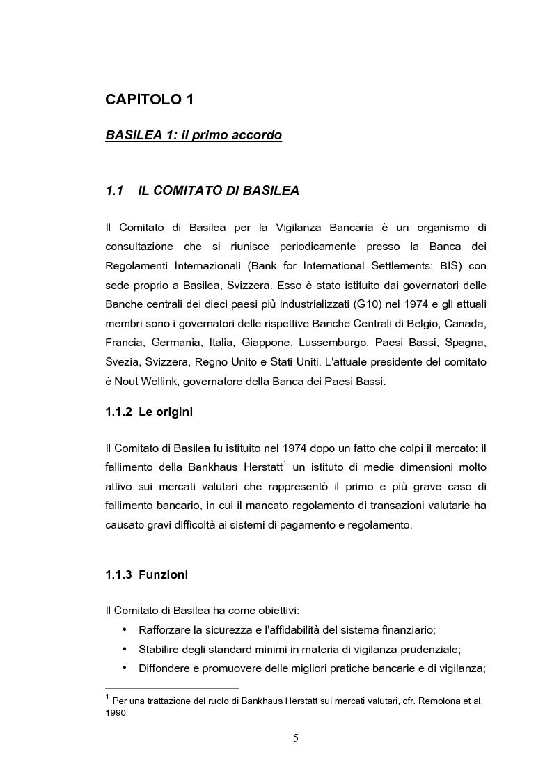 Anteprima della tesi: Il rischio operativo nell'accordo di Basilea 2, Pagina 1