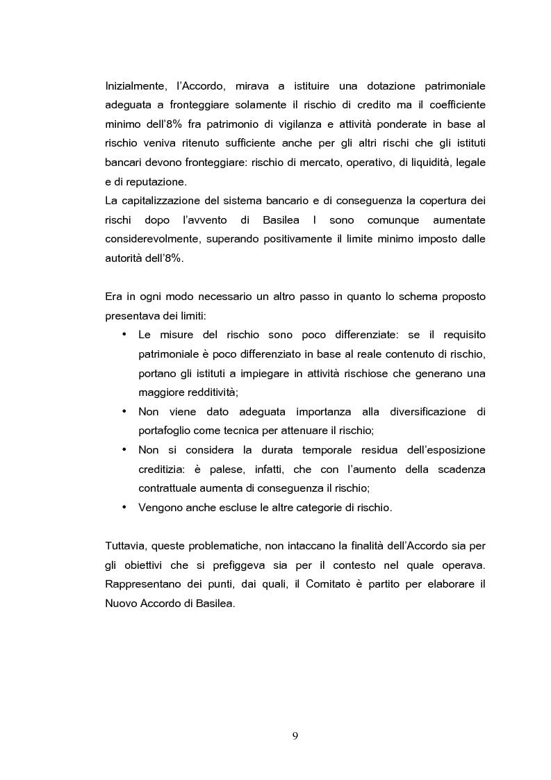 Anteprima della tesi: Il rischio operativo nell'accordo di Basilea 2, Pagina 5