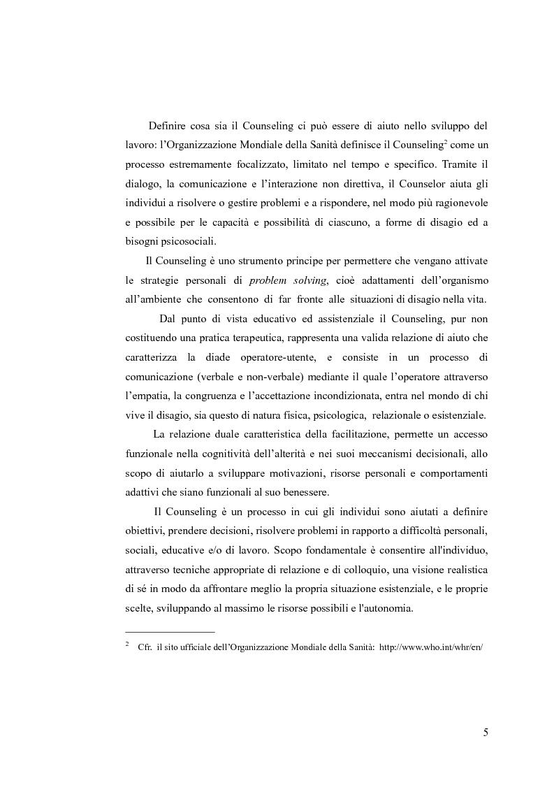 Anteprima della tesi: Il counseling centrato sulla persona. Per una lettura pedagogica della relazione d'aiuto., Pagina 2