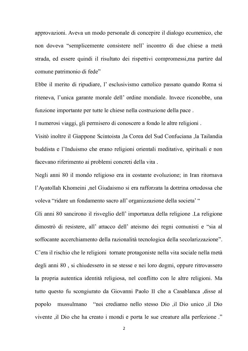Anteprima della tesi: Fondamenti pedagogici nel dialogo interreligioso dell'opera di Giovanni Paolo II, Pagina 2