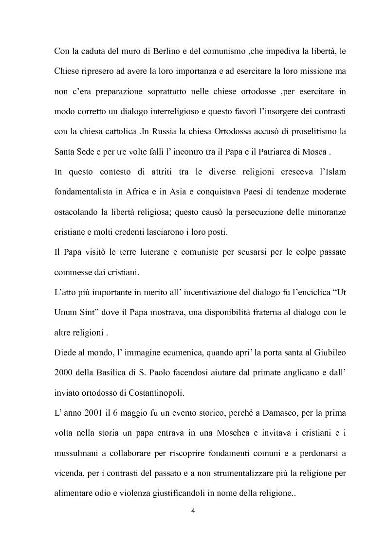 Anteprima della tesi: Fondamenti pedagogici nel dialogo interreligioso dell'opera di Giovanni Paolo II, Pagina 4