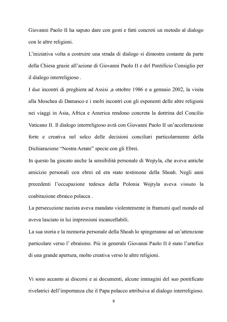 Anteprima della tesi: Fondamenti pedagogici nel dialogo interreligioso dell'opera di Giovanni Paolo II, Pagina 9