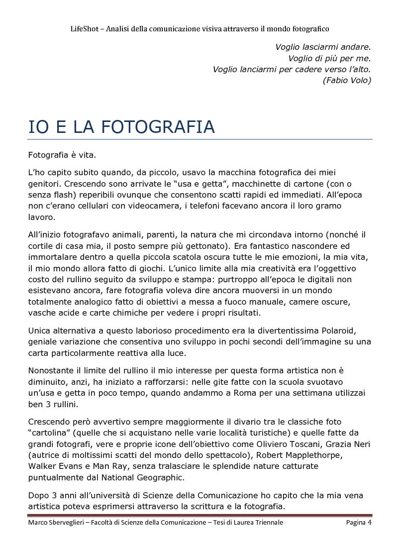 Anteprima della tesi: LifeShot: analisi della comunicazione visiva attraverso il mondo fotografico, Pagina 1