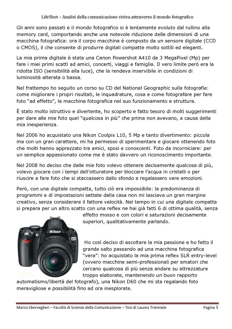 Anteprima della tesi: LifeShot: analisi della comunicazione visiva attraverso il mondo fotografico, Pagina 2