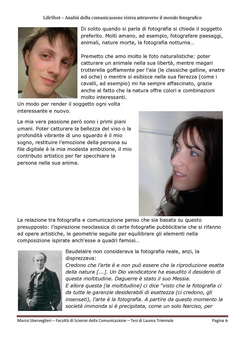 Anteprima della tesi: LifeShot: analisi della comunicazione visiva attraverso il mondo fotografico, Pagina 3