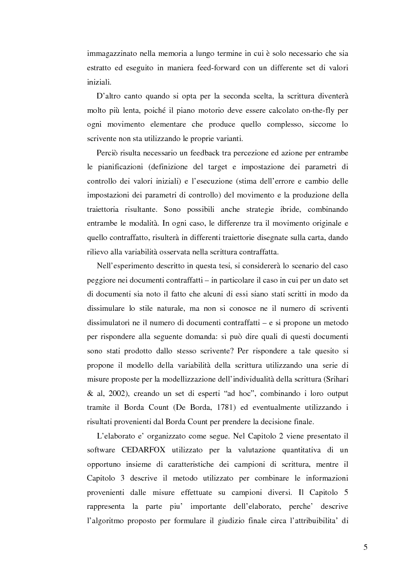 Anteprima della tesi: Un sistema interattivo multiesperto per il clustering degli autori di documenti manoscritti, Pagina 2