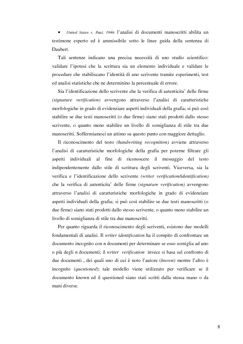 Anteprima della tesi: Un sistema interattivo multiesperto per il clustering degli autori di documenti manoscritti, Pagina 5