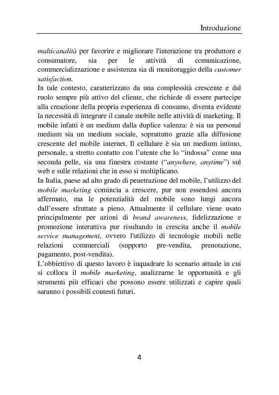 Anteprima della tesi: Il ruolo del cellulare nell'era del marketing multicanale - Strumenti ed esperienze di mobile marketing, Pagina 2