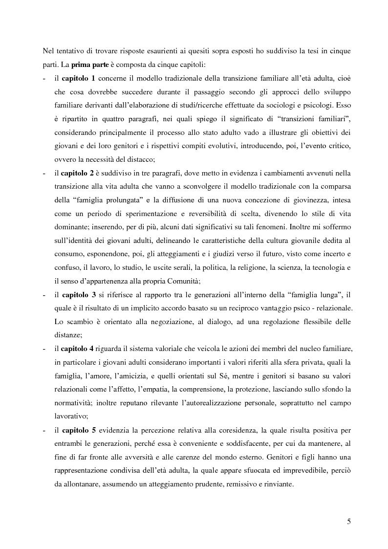 Anteprima della tesi: La lunga transizione familiare all'età adulta, Pagina 3